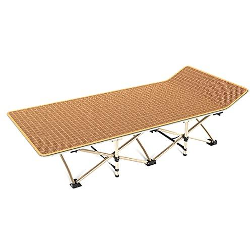 ZQNHXY Silla reclinable Plegable, Tumbona de Playa portátil, sillón reclinable al Aire Libre de Playa de jardín con Alfombrilla de ratán Fresca