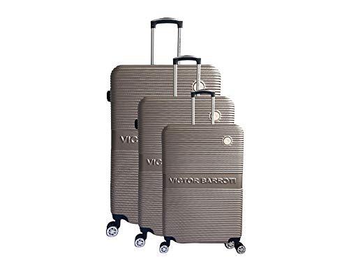 Juego de 3 maletas Milan, ABS, 75 cm, 65 cm, 55 cm