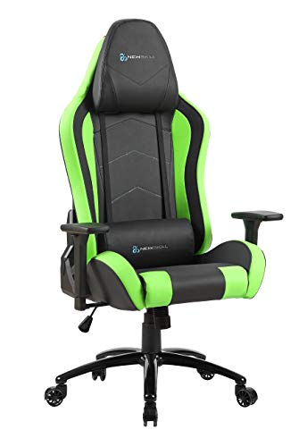 Newskill Takamikura - Silla gaming profesional (inclinacion y altura regulable, reposabrazos ajustables, reclinable 180º), Color Verde