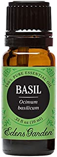 Edens Garden Basil Essential Oil, 100% Pure Therapeutic Grade (Pain & Sleep) 10 ml