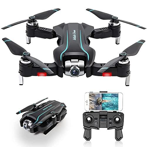 DCLINA Drone con Telecamera HD 1080P Posizionamento del Flusso Ottico Pieghevole Drone Gesto Foto/Video Trasmissione WiFi 2.4G Seguimi modalità Senza testaQuadcopter