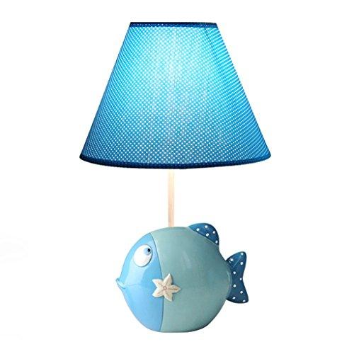 Kinder Tischlampen SYAODU Cartoon Clown Fisch Schreibtisch Lampe DIY dekorative Kunst Beleuchtung E27 einstellbare Fütterung Milch Geschenk Licht ( Color : Blue )