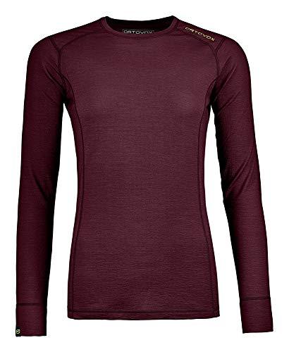 ORTOVOX 145 Ultra Long Sleeve W T-Shirt à Manches Longues Femme, Bordeaux foncé, L