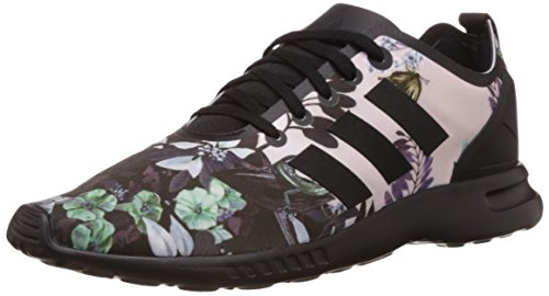 Adidas Women's ZX Flux Smooth W, FLORAL/BLACK/PURPLE/GREEN, 7 US