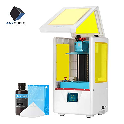 ANYCUBIC 3D Printer Photon S UV Photocuring Ultra Precision LCD Printer Masking Technology 2K Screen 405nm Matrix UV Light Z-axis Dual Linear Rail Printing (White)