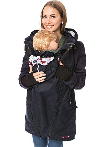GoFutureWithLove GFWL - Chaqueta de invierno 4 en 1 impermeable para embarazadas GF2407XG Diseño de nubes. XL
