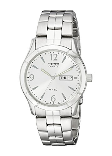 Citizen Men's Quartz Stainless Steel Watch with Day/Date, BK3830-51A
