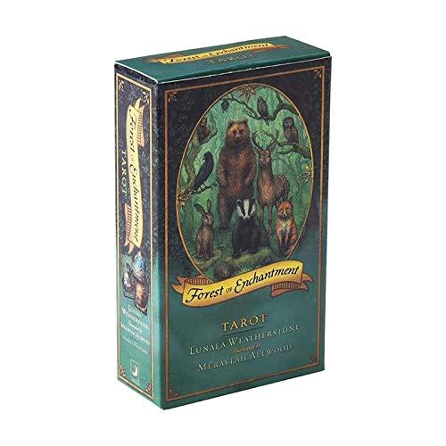 WANGP Forest of Enchantment Tarot, Divination Schicksal Deck Spieltisch Partei Puzzle Brettspiel, 78 Sheets Tarot-Karten, Deutsche Version