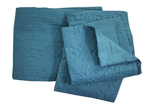Eminza Colcha y Funda de Almohada (230 x 250 cm) Ceylan Azul
