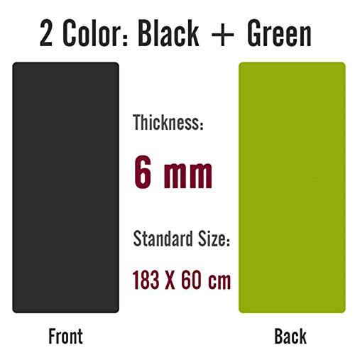 Opvouwbare gymnastiekmat, 183X800X8Mm Dubbelzijdig gebruik Tpe Yogamat Groot formaat antislip tapijtmat voor beginners Milieu Fitness Gymnastiekmatten, 183X60Cm 6 mm
