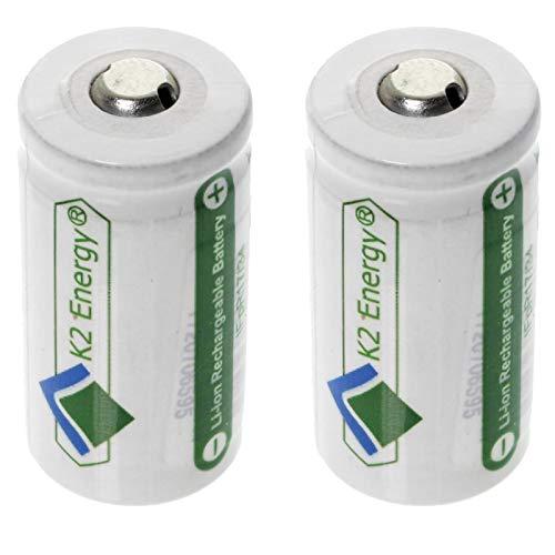 2pc LFP123A Rechargeable Li-Ion Batteries for Digital Cameras
