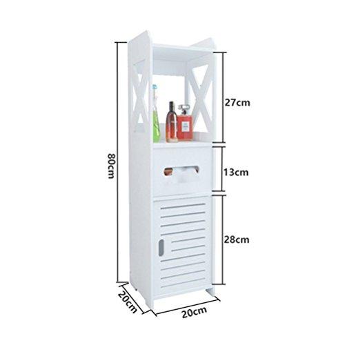 WLH- Badkamer plank Toilet zijkasten zijkasten Toilet Living Room Floor Lockers Waterproof Toilet Legvlakken (Color : A)