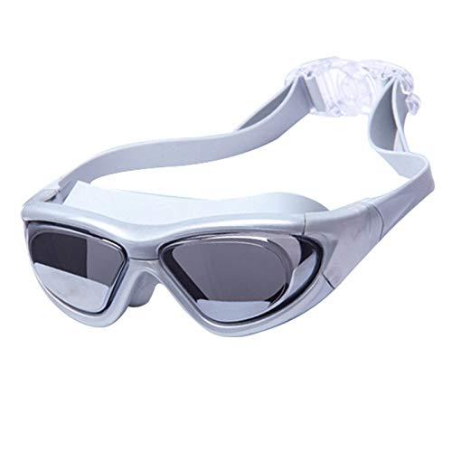 QQSS Gafas de Natación Antivaho, Gafas para Nadar de Miopía Protección UV Sin Fugas Ajustable Gafas de Buceo