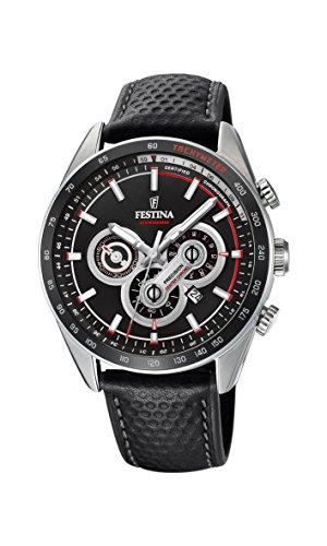 Festina Herren Chronograph Quarz Uhr mit Leder Armband F20202/4