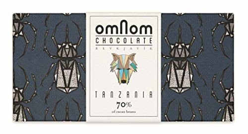 Feine Tanzania 70% Kakao Schokoladetafel von OMNOM   Preisgekrönte Gourmet-Schokolade mit exquisitem Geschmack   Perfekt für den Selbstgenuss oder als Schokoladen-Geschenk-Set   60 g pro