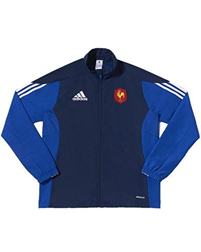 Adidas Veste De Survêtement Ffr Manches Longues Homme, Bleu, FR (Taille Fabricant : XL)