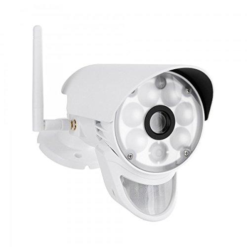 HaWoTEC HD Überwachungskamera HWT-CAM-103.LED mit LED-Licht und PIR Sensor