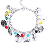 A Sticker Shop Friends Charm Bracelet (Cute Box) Included - Friends Merchandise TV Show Costume Jewelry Gifts for Women, Gift for Girlfriend, Valentine with Box