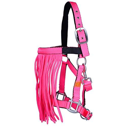 Epplejeck Halfter mit Fliegenfransen Neon- Pink-Cob