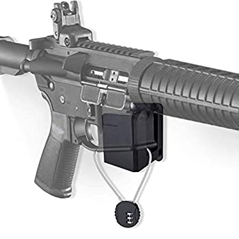 AR-15 Wall Mount with Wire Lock,Solid ABS Wall Mount and Display Rifle Display Gun Safe Wall Rack