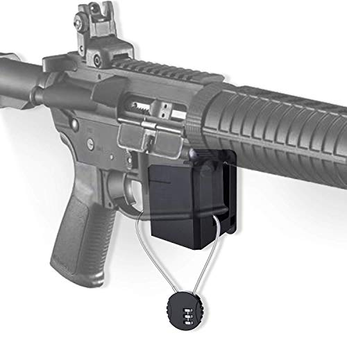 AR-15 Wall Mount with Wire Lock,Solid ABS Wall Mount and Display, Rifle Display, Gun Safe Wall Rack