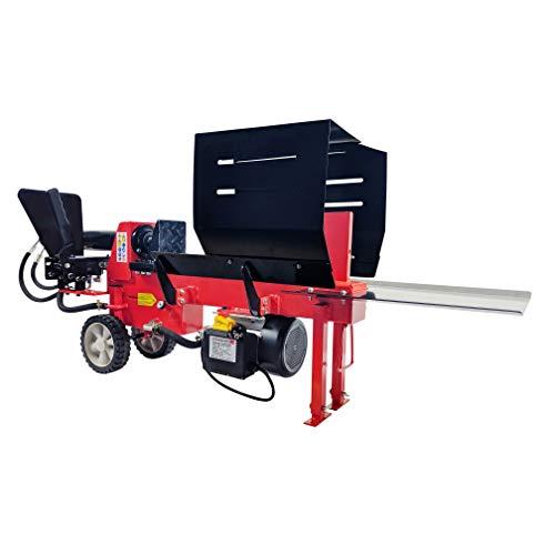 CrosSFER houtsplijter HLS8T-230V, 8 ton splijtkracht, 52 cm klooflengte, 230 V elektromotor, 2 handbediening, hydraulische klok, volgens de nieuwste norm
