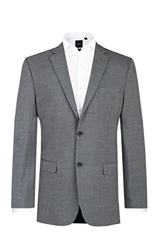 Dobell Herren Anzug Jackett Grau Meliertes Regular Fit-118