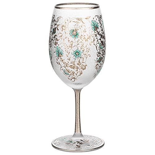 Arabesque Silver Premium Japanese Wine Glass