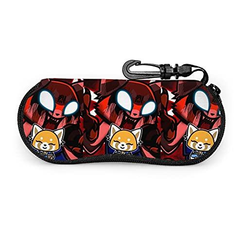 ZORIN Aggretsuko Retsuko - Funda para gafas de sol con clip para cinturón con cremallera para gafas de sol