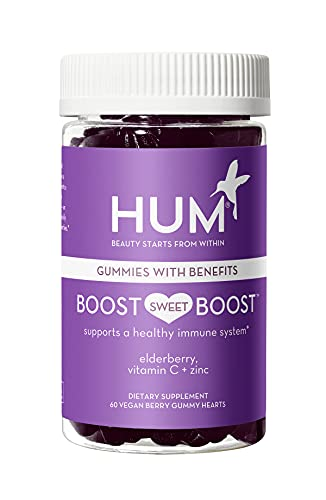 HUM Boost Sweet Boost - Gummies for Immune Support with Vitamin C, Zinc and Elderberry - Immune Booster and Vitamin Gummies Supplement for Women and Adults - Immune Defense Gummies, Berry (60 Gummies)