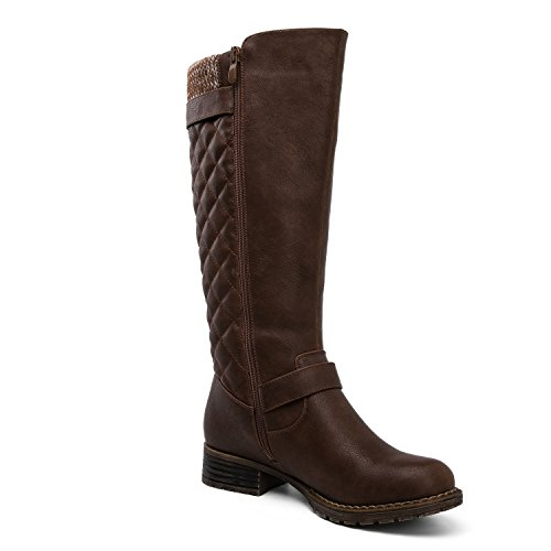 GLOBALWIN Women's Riding Style Wide Calf Boots