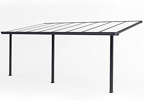 Techo de aluminio para terraza y pérgola, 557 x 303: Amazon ...