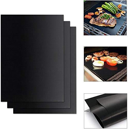 FIF BBQ Grillmatte 12 x Teflon Antihaft Backofen Liner Barbecue Backmatte Zum Grillen von Fleisch Wiederverwendbare langlebige Kochmatten, 6PCS