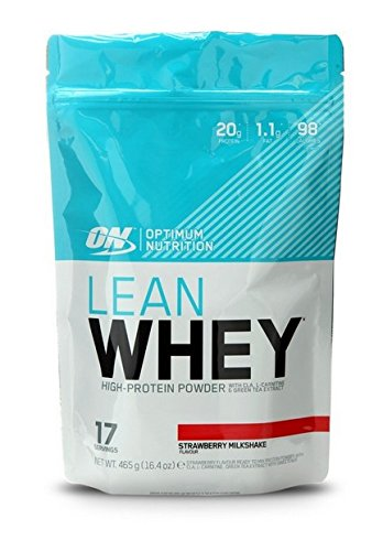 Optimum Nutrition Lean Whey Supplements, 390 g, Strawberry