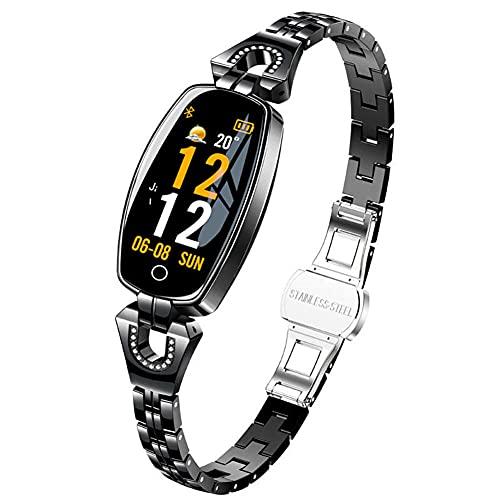 Reloj Inteligente Moda Deportes Ip67 Pulsera Impermeable con Monitor de Frecuencia Cardíaca Contador de Pasos Monitor de Sueño Mujeres Fitness Tracker Fashion-C