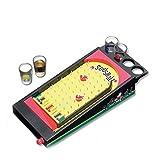 NANG YE Mini Juegos de Mesa de Vino de Pinball, Juegos para Beber, Juegos para Beber para Adultos, Juegos de Mesa para Adultos, Muy adecuados para Fiestas y Noches de Juegos.-Amarillo