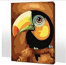 Frameloze Schilderen op Nummer Kleurplaten voor Huisdecoratie Handgeschilderde Canvas Schilderen 30 * 40Cm Papegaai