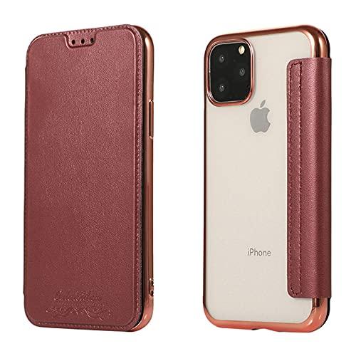 Custodia a portafoglio in morbida pelle TPU elettrolitica con slot per schede Filp Cover per iPhone 12 Mini 11 Pro Max XS XR X 8 7 6 Plus SE, colori misti, per iPhone SE 2020