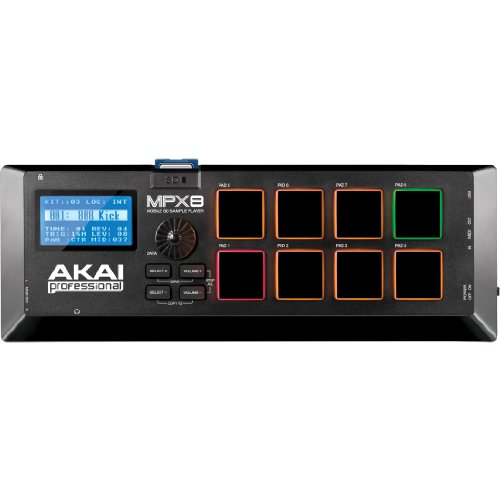 AKAI Professional MPX8 - Portabler Sample Pad Controller mit 8 Performance Ready Pads & On Board SD Kartenslot