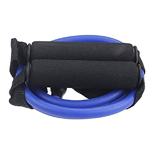 BlueBeach® Widerstand Typ der Fitness-Band D – Gym Yoga Muskeln Training Übung elastische Ausrüstung Training Tube Seil Kabel Stretch Mode Werkzeugkörper (zufällige Farbe) - 2