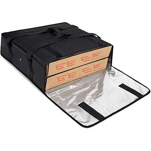 Brandzini Insulated Pizza Delivery Bag 20-Inch by 20-Inch by 6-Inch…