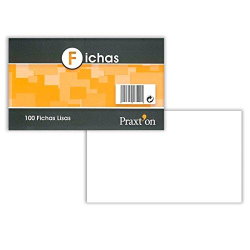 Fichas Cartulina PRAXTON Lisas 100 x 150 mm, Pack x100