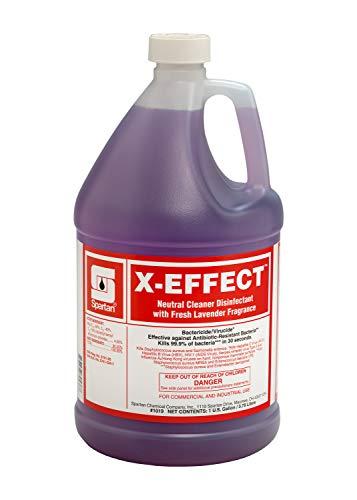 X-Effect Neutral Cleaner Disinfectant, Fresh Lavender, 1 Gallon Bottle, 4 Bottles Per Case