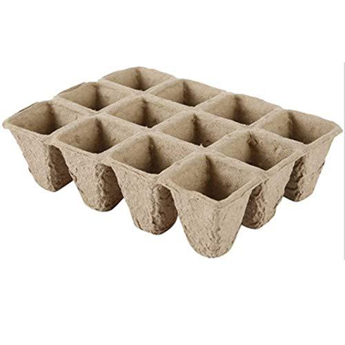 YOUNGE Garden Peat Pots - Pennarello per piante, 12 fori, biodegradabile, da giardino, per la casa e l'esterno