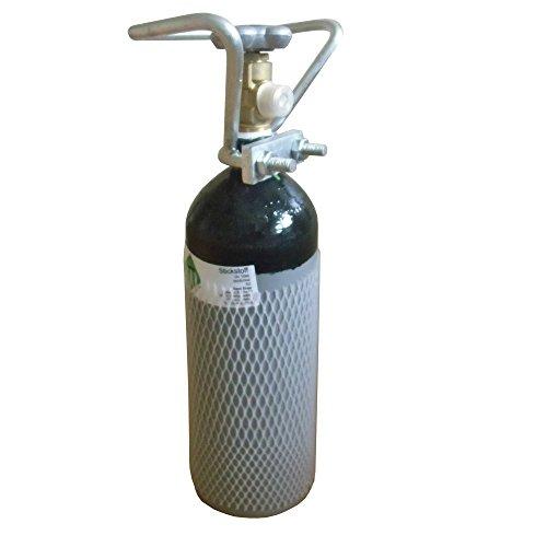 Stickstoffflasche Gasflasche 2L Stickstoff gefüllt und fabrikneu von Gase Dopp