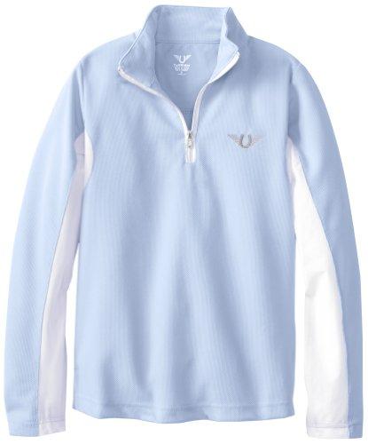 TuffRider Langärmliges Sport-Shirt für Kinder, belüftet, mit Netzstoff xl Blau - Glacier Blue