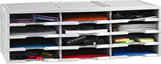 Storex 12-Compartment Literature Organizer/Document Sorter, Grey (61601U01C) (B00181B8QU) | Amazon price tracker / tracking, Amazon price history charts, Amazon price watches, Amazon price drop alerts