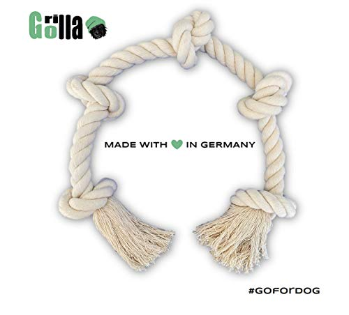 Go Rilla Hundespielzeug Seil,Tau Hund Spielzeug, Hund Seil Spielzeug Set,Interaktives Kauspielzeug Spielzeug,Vorteilhaft für die Zahnreinigung des Hundes,für Welpe Mittlere/Große Hunde (XL, Natur)