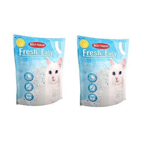 Petcrux Best Friend Fresh & Easy Silica Cat Litter 5L (Pack of 2-10 L)