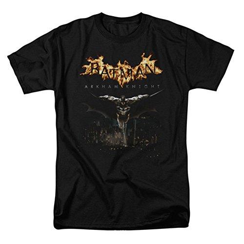 Batman Arkham Knight–T-Shirt pour Homme Ville Montre, Homme, Noir